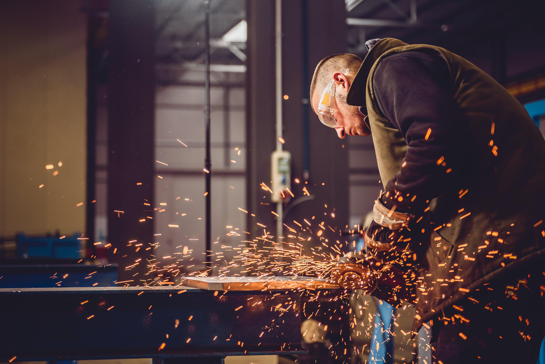 Craftsman metal welder for custom kitchen